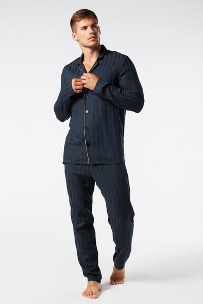 Modál Vászon Hosszú Pizsama