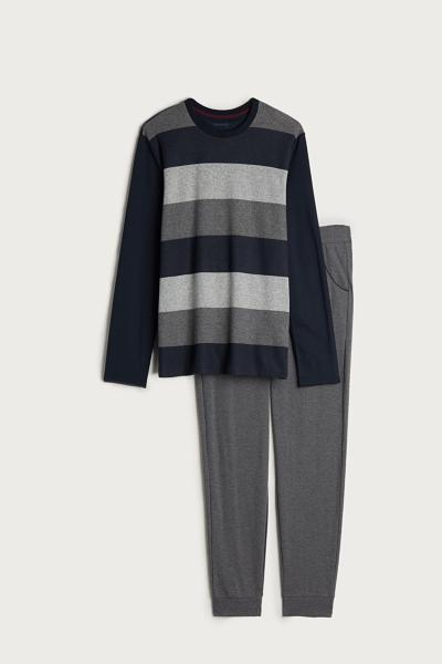 Long Striped Jaquard Pajama