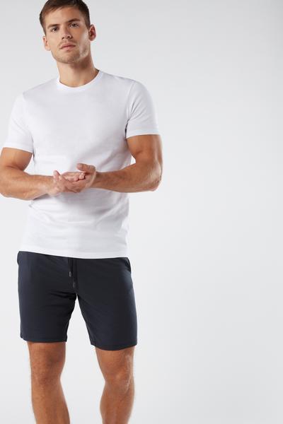 Kurze Hose aus Seide und Modal