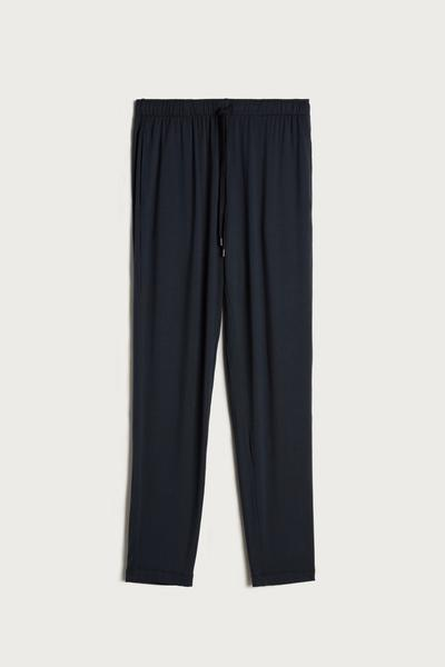 Long Silk and Modal Trousers