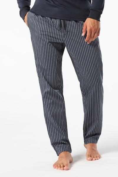 Pantalones de Pijama de Algodón a Rayas