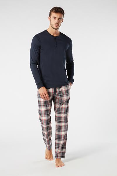Pantalones Largos de Cuadros Escoceses