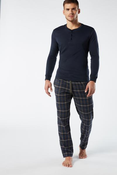 Long Canvas Tartan Pants