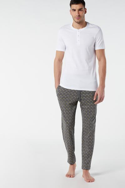 Long Printed Jersey Trousers