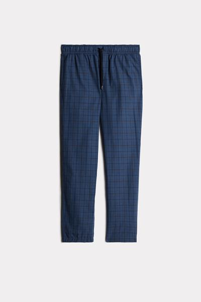 Long Check Canvas Trousers
