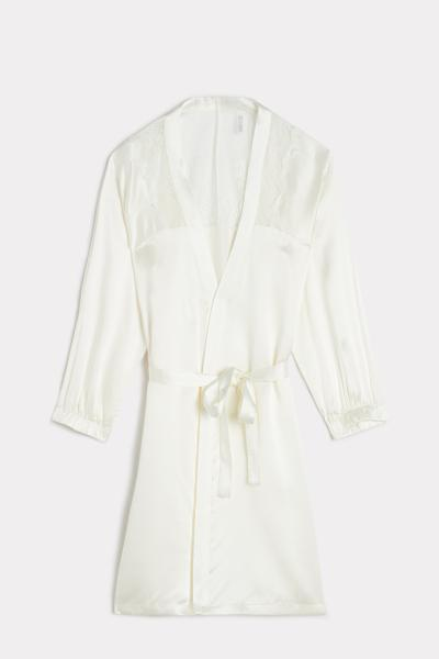 Lady Sheer Silk and Lace Dressing Gown