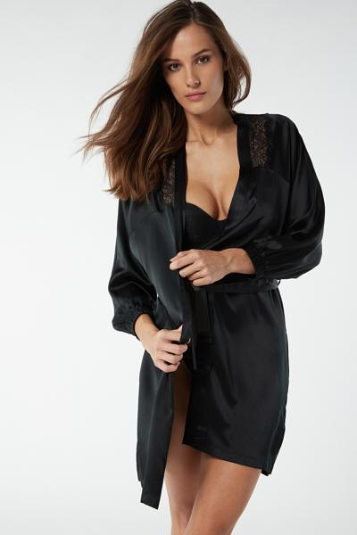 Robe em Seda e Renda Lady Sheer