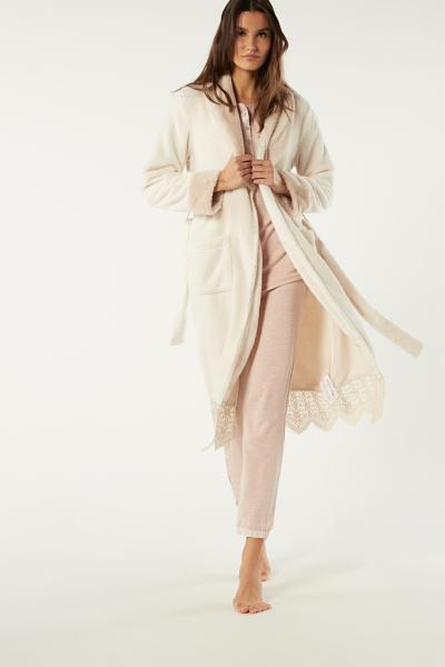 Long Faux Fur Dressing Gown
