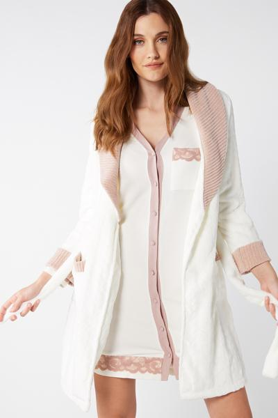Ribbed Chenille Dressing Gown