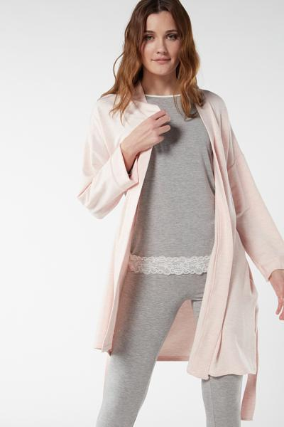 Modal and Cashmere Fleece Dressing Gown