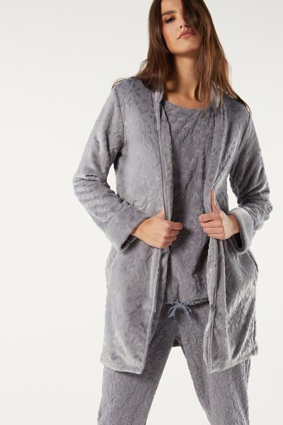 Damask Pattern Dressing Gown