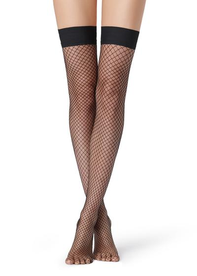 Medium-Hole Fishnet Hold-Ups