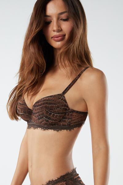 Sofia Lady Crocodile Balconette Bra