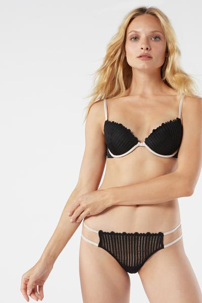 Bellissima Geometric Stripes Push-up Bra