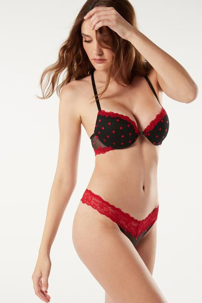 Bellissima Christmas Dots Push-up Bra