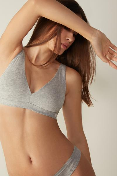 Lara Natural Cotton Triangle Bra