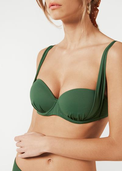Leicht wattiertes Push-up-Bikinioberteil Indonesia