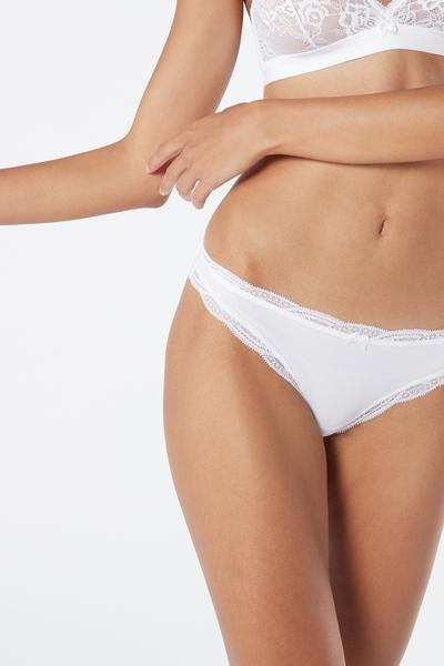 Cotton and Lace Cheeky Briefs