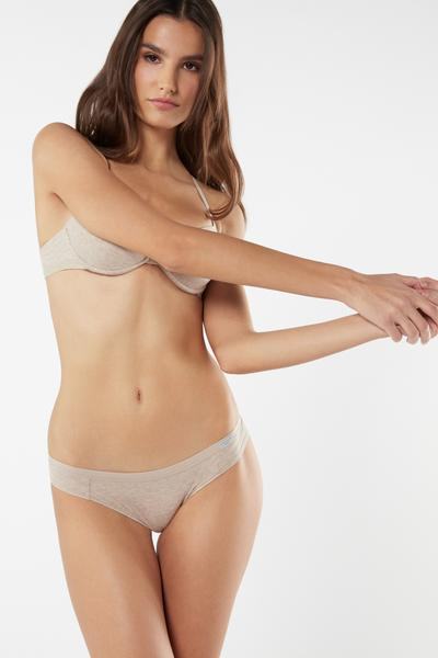 Natural Cotton Brazilian Panties