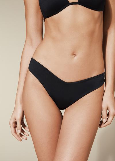 Indonesia High Leg Brazilian Bikini Bottoms