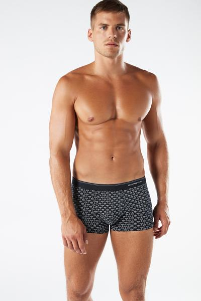 Boxers in stretch cotton with geometric animal print