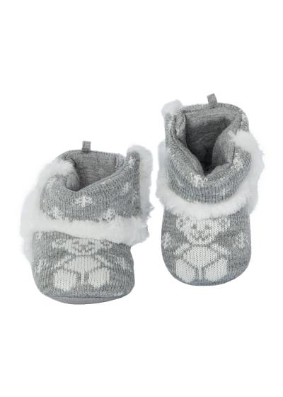 Babies' and infants' booties in various styles.
