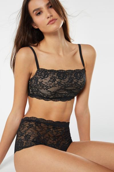 Lace High-Rise French Knickers