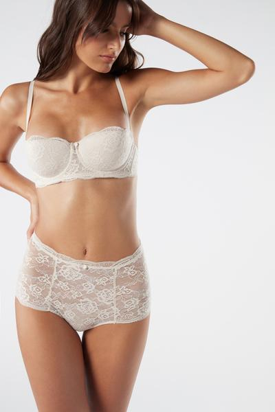 High-Rise Lace French Knickers