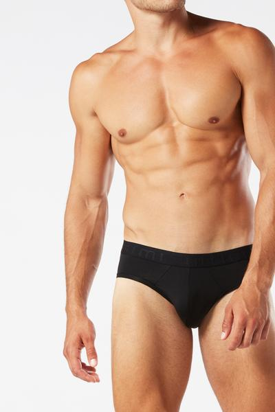 Microfiber Briefs with Logo Detail