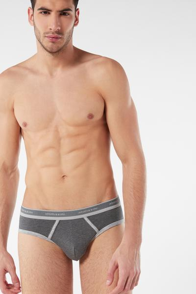 Stretch Supima® Cotton Brief with Logo Detail