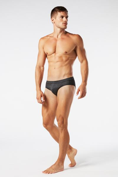 Pinstripe Lisle-Yarn Briefs