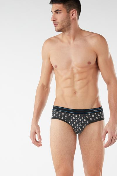 Animal Print Stretch Supima Cotton Briefs