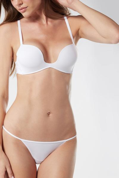 Microfiber G String with Narrow Side Panels