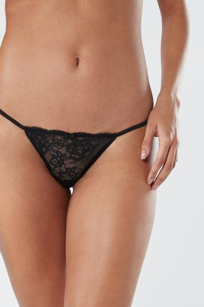 Lace Side Thong