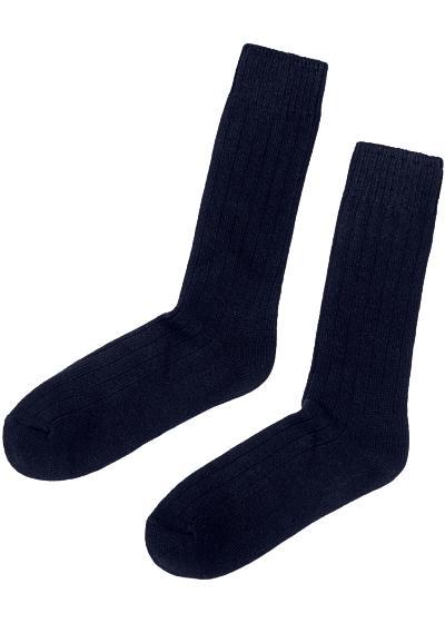 Kurze Socken in Rippe mit Wolle und Kaschmir