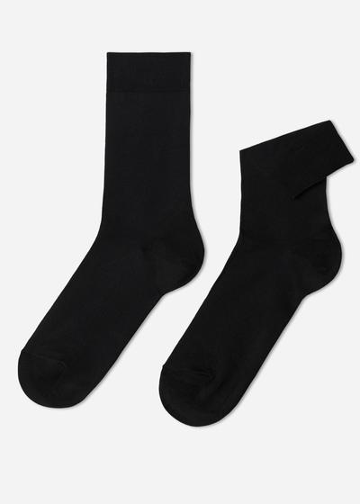 Kurze Socken aus Elastischer Baumwolle