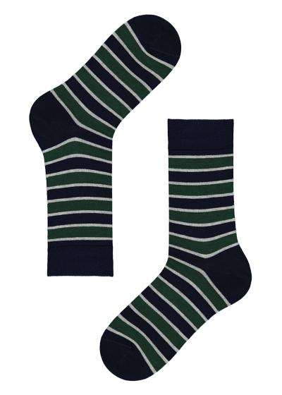 Men's Patterned Cotton Short Socks