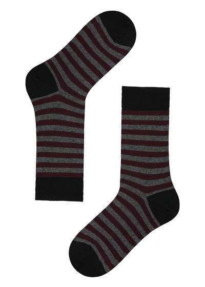 Calcetines cortos estampados de algodón para hombre