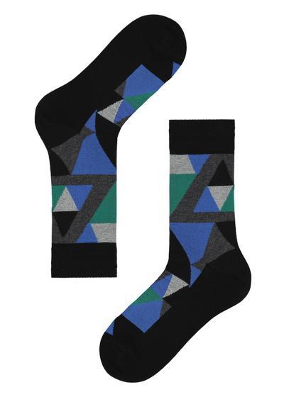 Pánské Krátké Vzorované Bavlněné Ponožky
