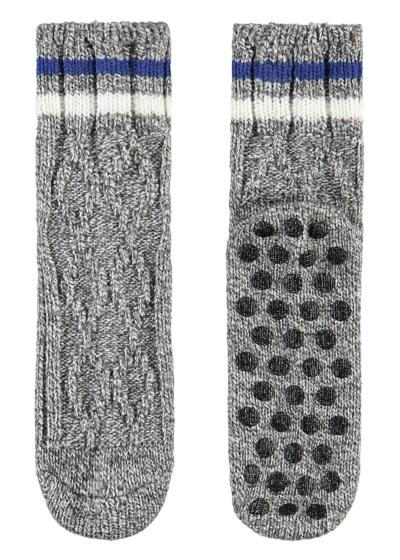 Men's Short Non-Slip Patterned Wool Socks