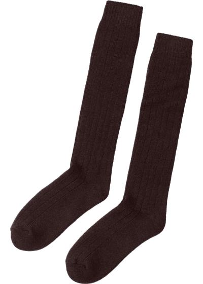 Tall Ribbed Socks with Wool and Cashmere
