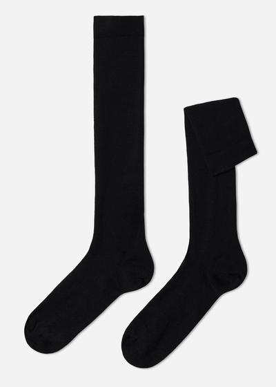 Long Wool and Cotton Socks