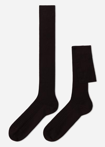 Long Ribbed Lisle Socks