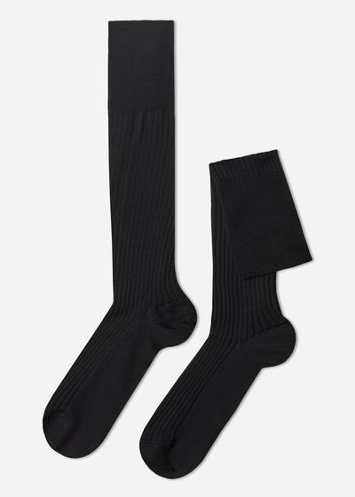 Tall  Ribbed Egyptian Cotton Socks