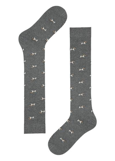 Men's long patterned socks