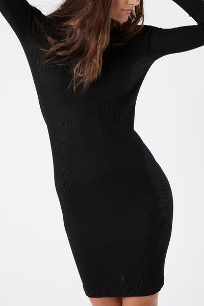 Figurbetontes Maxishirt aus Wolle und Seide