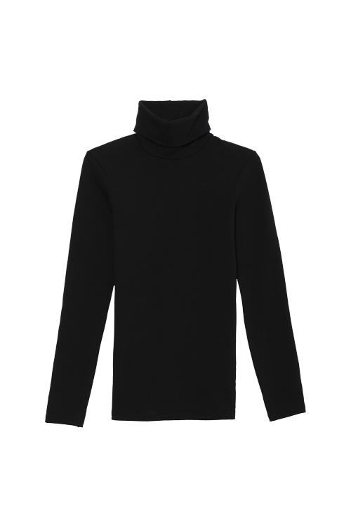 fe9e6b87968a Μακρυμάνικη Μπλούζα με Ψηλό Λαιμό από Θερμικό Βαμβακερό Ύφασμα