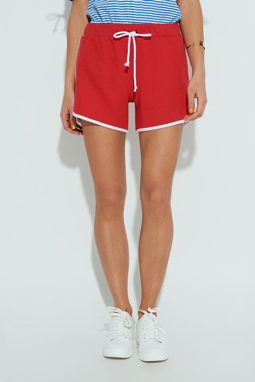 Shorts de Felpa con Ribetes