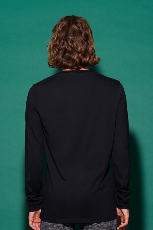 667170a3652e Μπλούζα Μακρυμάνικη από Βαμβακερό Ζέρσεϊ Λαιμόκοψη