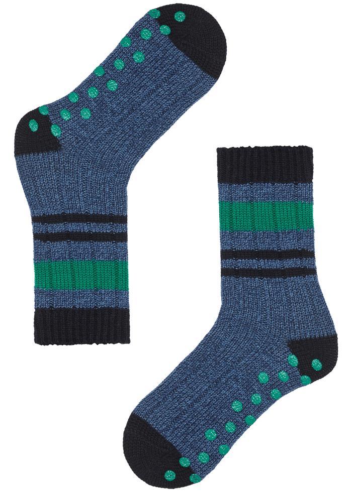 Short Non-Slip Wool Socks
